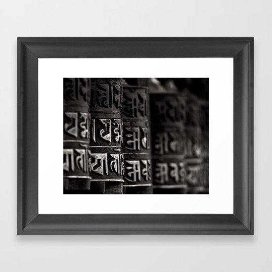 Monkey Temple Mani Wheels Framed Art Print