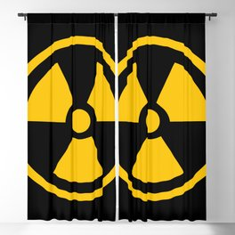 Yellow Radioactive Blackout Curtain