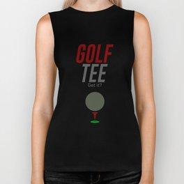 Golf Tee Pun Golfing Game Swing Ball Biker Tank
