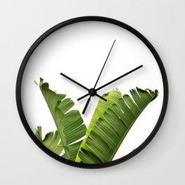Tropical Banana Plant Leaves Wall Clock