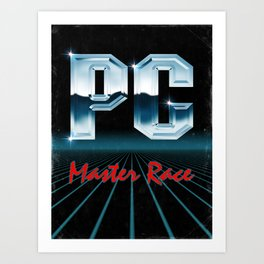 PC Master Race 80s Art Print