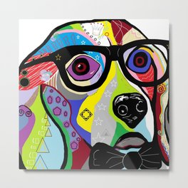 Sophisticated Beagle Metal Print