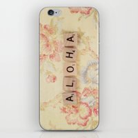 aloha iPhone & iPod Skins featuring Aloha by Christine Hall