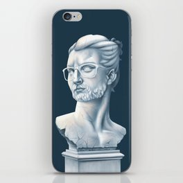 Hipster Bust iPhone Skin