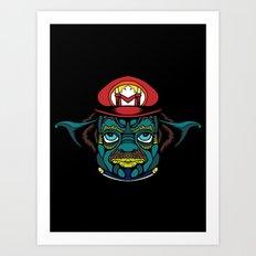 Mario + Yoda = Mariyoda Art Print