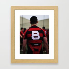The presence of a overwhelming player  Framed Art Print