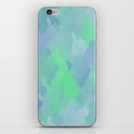 Shades of Blue and Green Octagon Abstract iPhone Skin