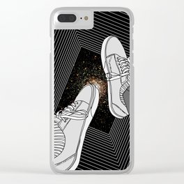 FALLING INTO THE SPACE Clear iPhone Case
