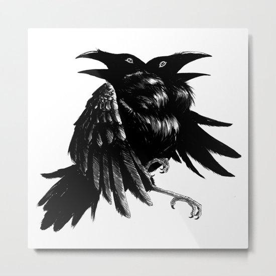 Ravens Metal Print