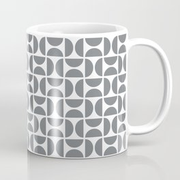 HALF-CIRCLES, GREY Coffee Mug