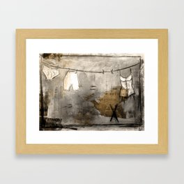 laundry stories Framed Art Print