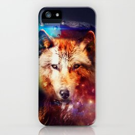 Colorfulface wolf  iPhone Case
