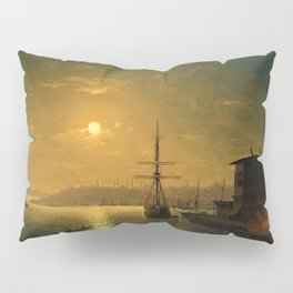 Constantinople (Istanbul) by Moonlight by Ivan Aivazovsky Pillow Sham