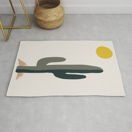Cactus and the Rising Sun Rug