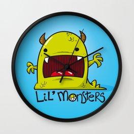 Lil' Monster Green Wall Clock