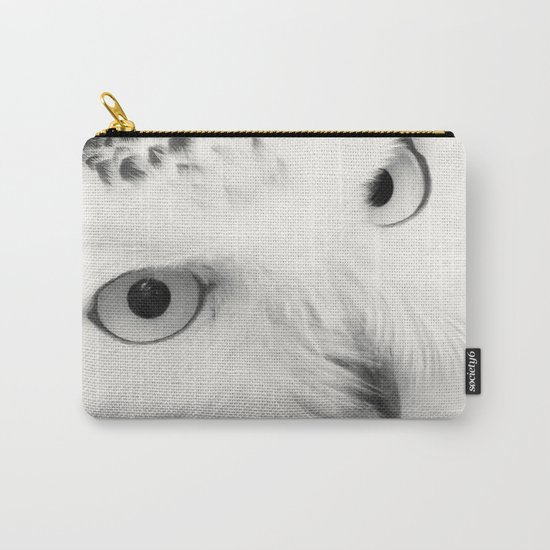 owl chouette bird white Carry-All Pouch