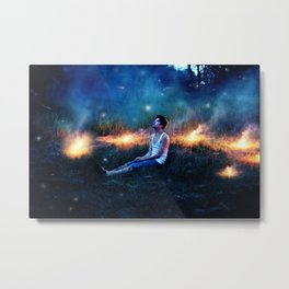 Calm Enough In Our Own Calamities. Metal Print