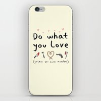 motivational iPhone & iPod Skins featuring Motivational Poster by Sophie Corrigan
