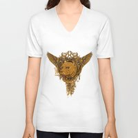 pitbull V-neck T-shirts featuring Pitbull by Tshirt-Factory