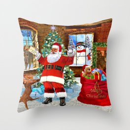 Merry Christmas From Santa Throw Pillow
