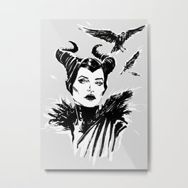 Maleficent Fan Art Angelina Jolie from Sleeping Beauty Metal Print