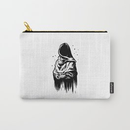 Time (Black and White) Carry-All Pouch