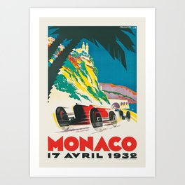 Formula 1  - 1932 Monaco Grand Prix Art Print