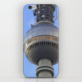 "BERLIN TV Tower with detail of ""World time Clock"" iPhone Skin"