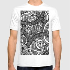 pattern White Mens Fitted Tee MEDIUM