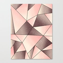 Pink tape art Canvas Print