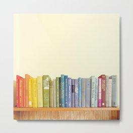 Rainbow Library Metal Print