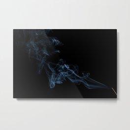 Incense Smoke in the Dark Air Metal Print