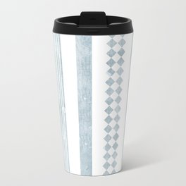 Chambray aztec stripe Travel Mug