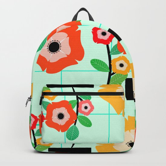 Floral wall Backpack