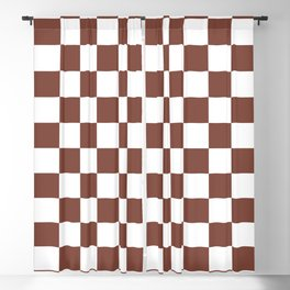 Checkered (Brown & White Pattern) Blackout Curtain