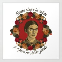 frida Art Prints featuring FRIDA by badOdds