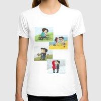 sterek T-shirts featuring Sterek kisses by agartaart