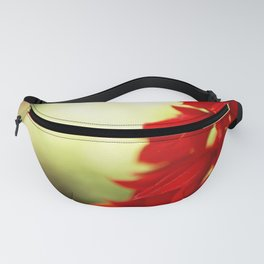 Red Floral Abstract Fanny Pack