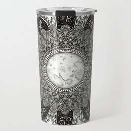 Astrology Signs Mandala Travel Mug