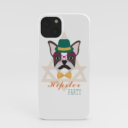 Hipster pug iPhone Case