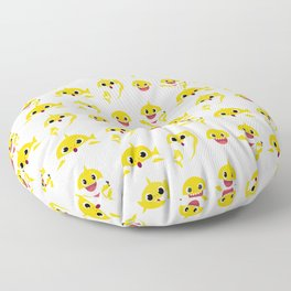 yellow baby shark Floor Pillow