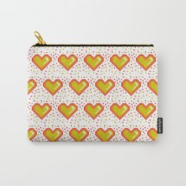 Pixel Heart Pattern #society6 #decor #buyart #artprint Carry-All Pouch