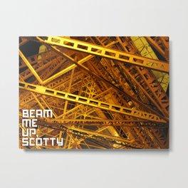 Beam Me Up Metal Print