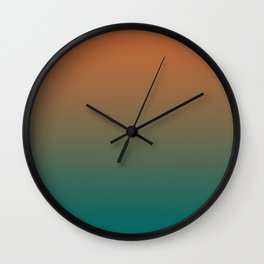 Quetzal Green Meerkat Gradient Pattern Wall Clock