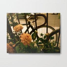 Sidewalk Beauty Metal Print
