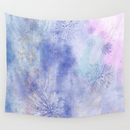 Abstract Distraction, Pink, Purple, Blue Wall Tapestry