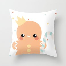 Kawaii Gingerbread Throw Pillow