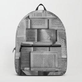 Novels Pattern (Black and White) Backpack