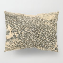 Vintage Pictorial Map of Stockton California (1895) Pillow Sham