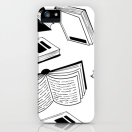 BOOK OBSESSION MONOCHROME PATTERN iPhone Case